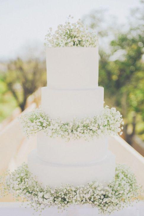 White-4-Tier-Wedding-Cake-decorated-with-Gypsophila